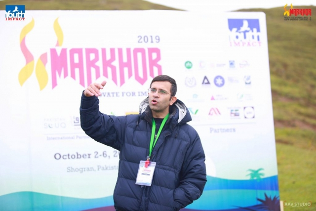 Ali Siddiqi from Amal Academy speaking at Markhor 2019