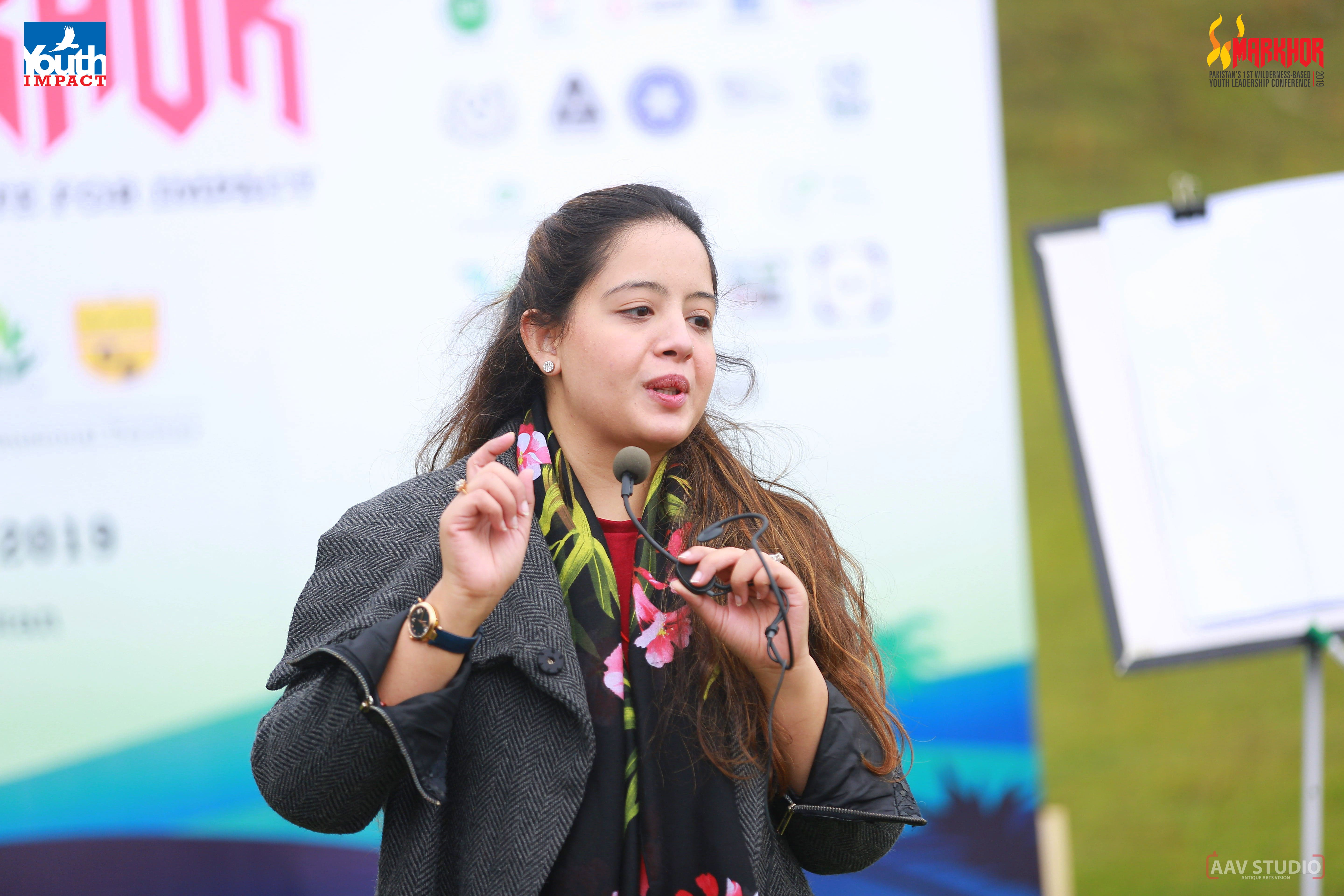 Khadija Zia from The Citizens Foundation speaking at Markhor 2019