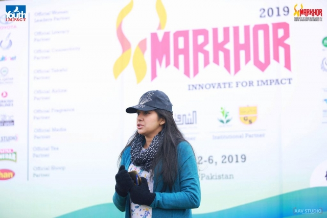 Rabia Asif from Akhuwat speaking at Markhor 2019