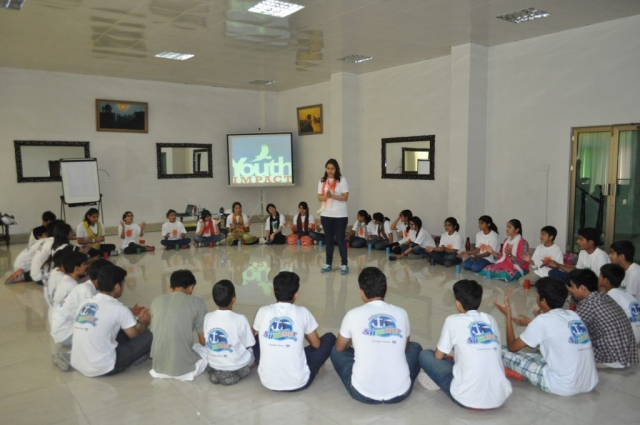 Students in Lahore during a leadership workshop